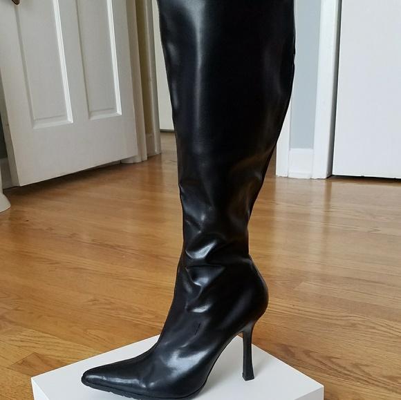 849d2725b9c Steve Madden Hiho Black Paris Stiletto Boots